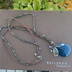N2227 retired Silpada Indigo Mood necklace